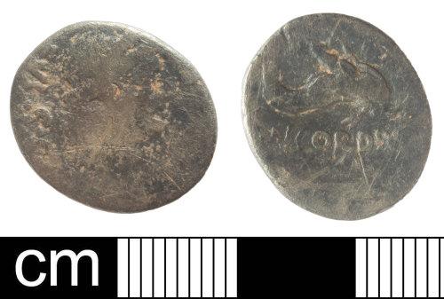 SOM-DDE847: Republican silver denarius of moneyer Mn. Cordius Rufus