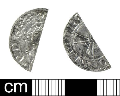 SOM-FA6C66: Cut halfpenny of Edward the Confessor