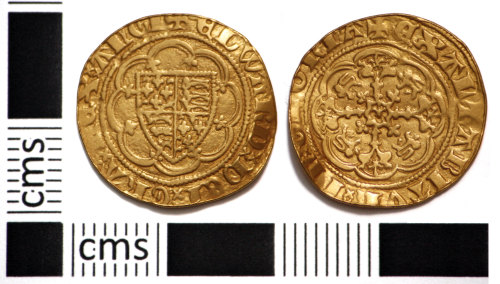 PUBLIC-285337: Medieval Coin: Quarter Noble of Edward III
