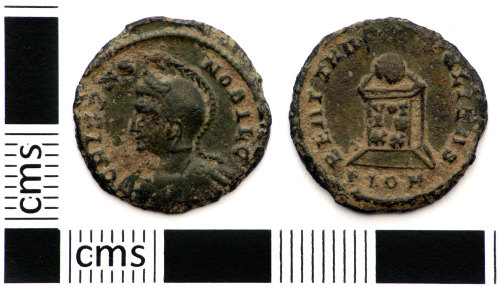DEV-FC5B3F: Roman coin: nummus of Crispus