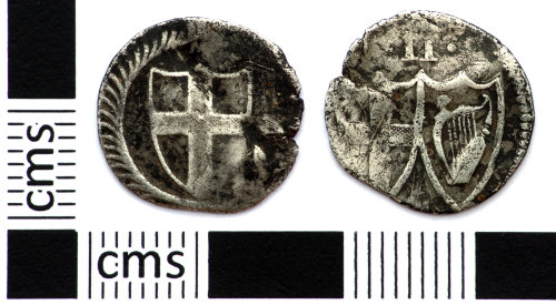 DEV-FDB244: Post Medieval coin: half groat of the Commonwealth