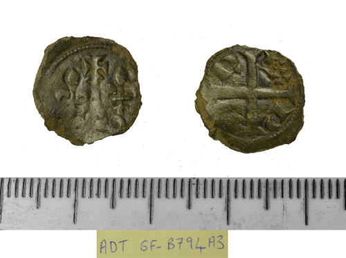 SF-B794A3: SF-B794A3: medieval coin: French tournois of Philippe IV,