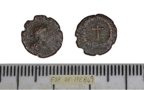 SF-17EB49: SF-17EB49: Roman coin: nummus, probably of Theodosius II