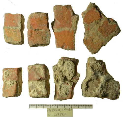 SF-3175BF: Four fragments of Roman mosaic flooring