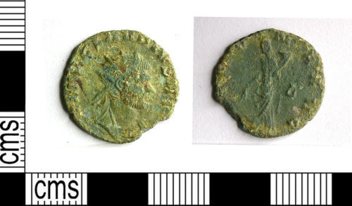LEIC-EE9CA1: LEIC-EE9CA1: Roman coin: radiate of Claudius II