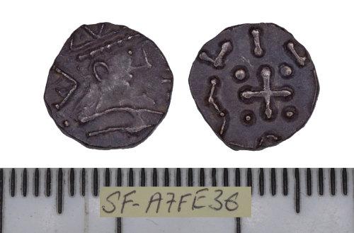 SF-A7FE36: SF-A7FE36: Early medieval coin: series D sceat