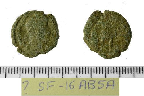 SF-16AB5A: Roman coin: nummus of the House of Valentinian