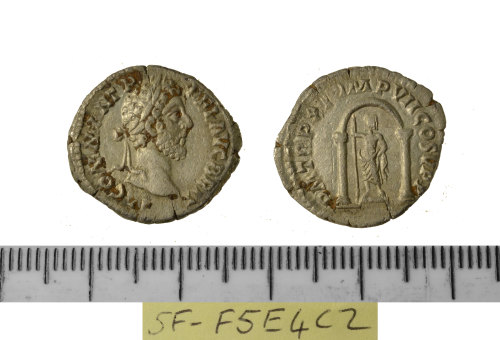 SF-F5E4C2: SF-F5E4C2: Roman coin: denarius of Commodus