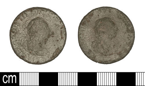 SOM-13DD16: SOM-13DD16: Post-Medieval coin: penny of George III