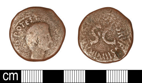 SOM-6D2A24: SOM-6D2A24: Roman coin: As of Augustus