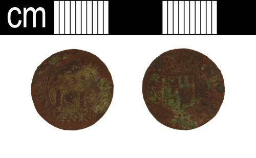 SOM-92F324: SOM-92F324: Post-Medieval token farthing