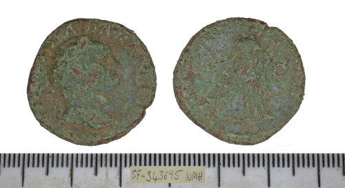 SF-343695: SF-343695: Roman coin: dupondius of Vespasian