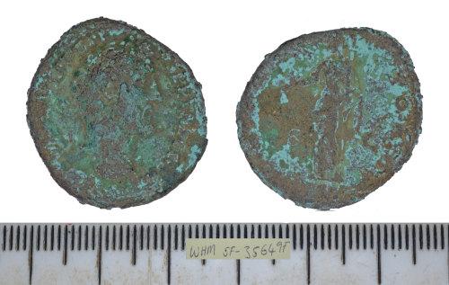SF-35649F: SF-35649F: Roman coin: dupondius of Antoninus Pius