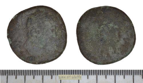 SF-4340B4: SF-4340B4: Roman coin: sestertius of Hadrian