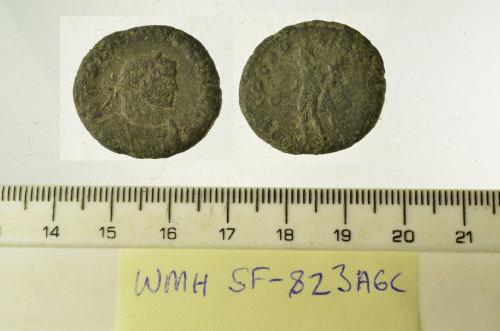SF-823A6C: SF-823A6C: Roman coin: nummus of Galerius