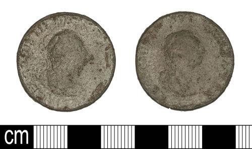 SOM-13DD16: SOM-13DD16: Post-Medieval coin: penny of George III