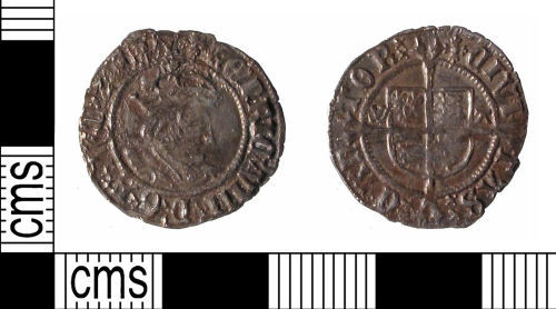 SUSS-D5A772: Post Medieval coin:Halfgroat of  Henry VIII