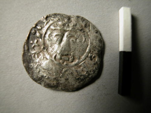 KENT-9C5E53: KENT-9C5E53.  Silver Medieval coin: penny of Richard I (obverse).