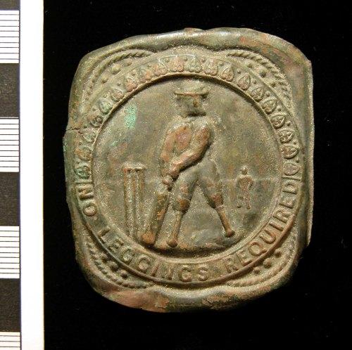 KENT-D2C9E3: KENT-D2C9E3.  Cricketer's belt plate.