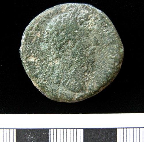 KENT-D973A1: KENT-D973A1. Sestertius of Marcus Aurelius. Obverse.