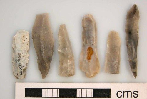 KENT-D8A520: Lamberhurst: Six Mesolithic blades