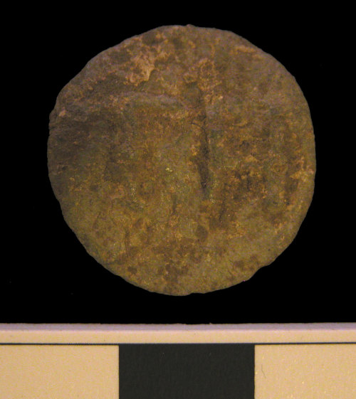 A resized image of KENT-D47D77.  Post-Medieval lead token.