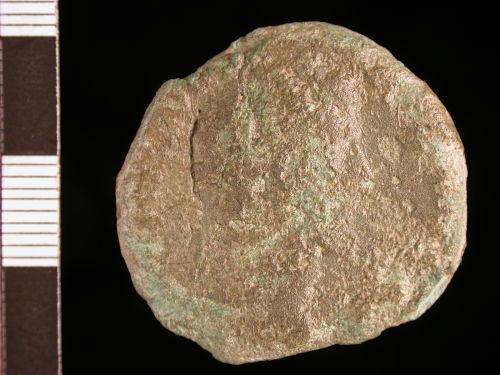 CORN-75A2B8: obverse of sestertius if Antoninus Pius