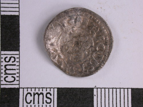 A resized image of short cross penny of John (obverse)