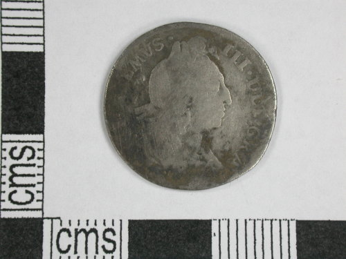 CORN-BBC71D: sixpence of William III (obverse)