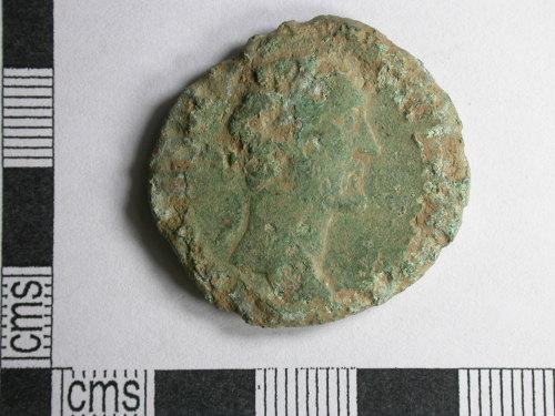 CORN-6A5543: sestertius of Antoninus Pius (obverse)