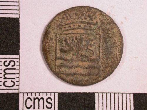 CORN-7CE441: duit of Dutch East India Company (obverse)