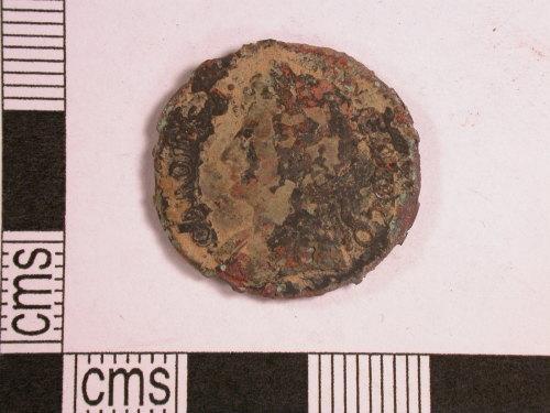 CORN-36452C: farthing of Charles II (obverse)