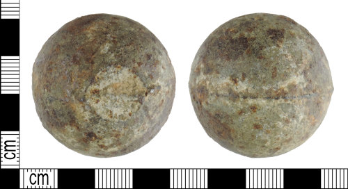 DENO-066263: Post-medieval cannon ball
