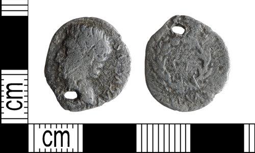 DENO-08A402: Roman coin: denarius of Augustus