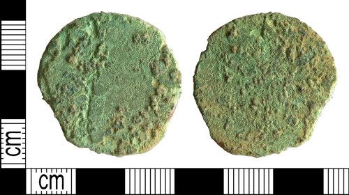 DENO-160F37: Roman coin: possible sestertius of an uncertain ruler