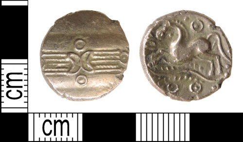 DENO-1E88D5: Iron Age coin: stater of the Trinovantes