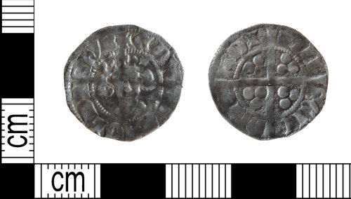 DENO-252E67: Medieval coin: penny of Edward II
