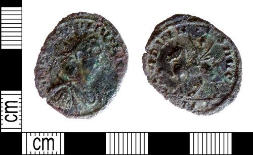 DENO-286B0D: Roman coin: radiate of Carausius