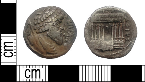DENO-29C336: Roman coin: denarius of Juba I of Numidia