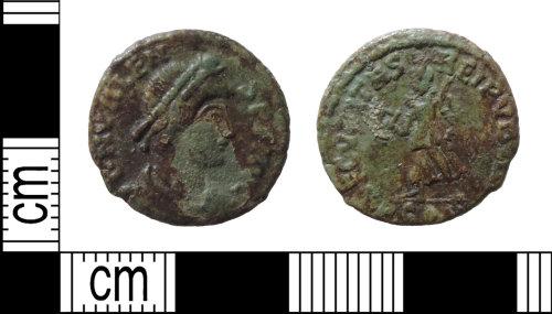 DENO-37EF24: Roman coin: nummus of Valens