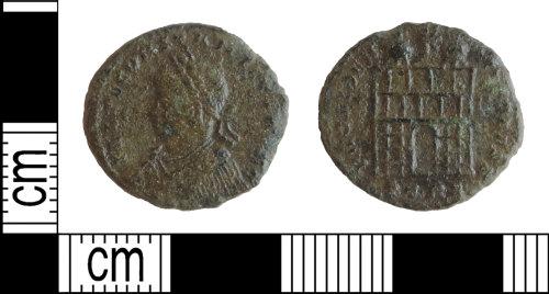 DENO-586E95: Roman coin: nummus of Constantius II