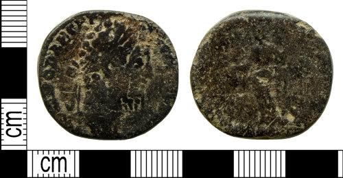 DENO-608719: Roman coin: sestertius of Commodus