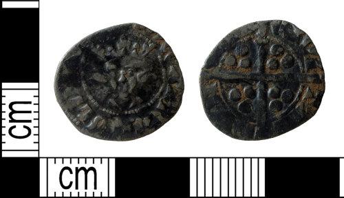 DENO-6873B2: Medieval coin: penny of Edward II