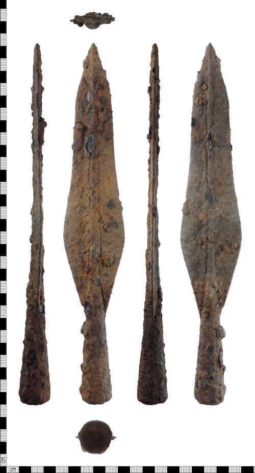 DENO-6BE71D: Iron Age to early medieval spearhead