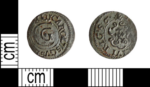 DENO-886497: Post-medieval coin: solidus of Carl X Gustav of Sweden, minted in Riga.