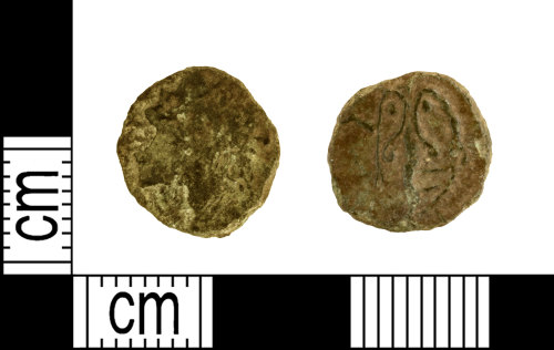 A resized image of Roman coin: barbarous radiate of Tetricus I