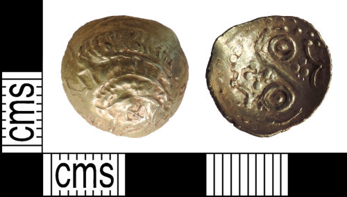 DENO-D9B7E3: Iron Age North Eastern Lindsey Scyphate Quarter Stater