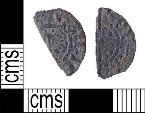 LIN-178B36: Medieval Coin : Cut Long-Cross Halfpenny of Henry III