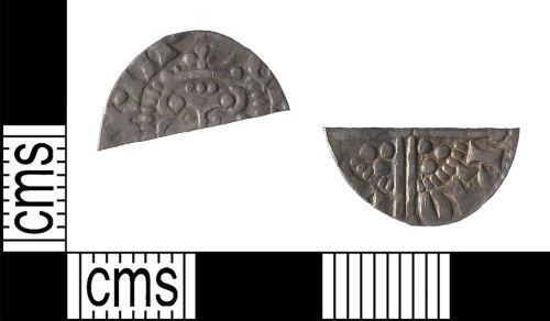 LIN-1868A0: Medieval Coin : Cut Long-Cross Halfpenny of Henry III