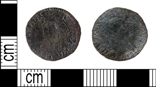 A resized image of Post-medieval coin: halfgroat of Charles I